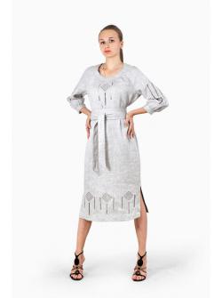 33139587ee3c331 Платья. Платье из натурального льна с мережкой и вышивкой, арт.25-17