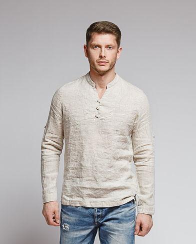 1f113118a3d Мужская рубашка-поло из натурального льна