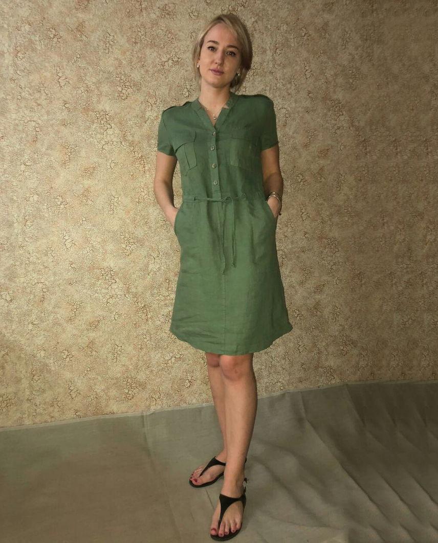 5fdd4819e7d2143 Женская одежда из льняной ткани · Платья. Однотонное платье изо льна